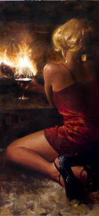 Figure Paintings of Sensual Women by Matt Abraxas