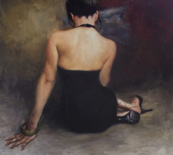 Paintings of Women Matt Abraxas Oil Paintings For Sale Demure