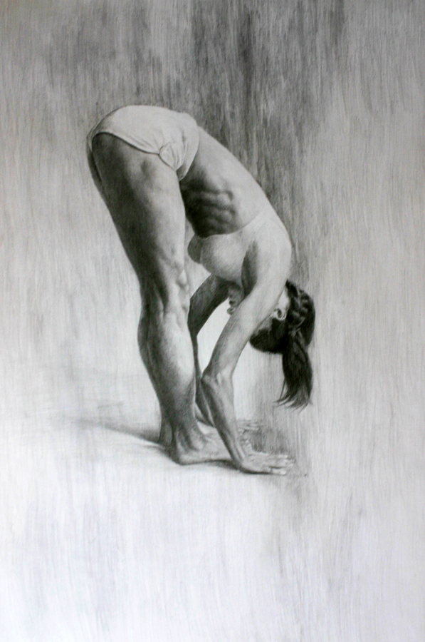 Paintings of Women Yoga Drawing Pose