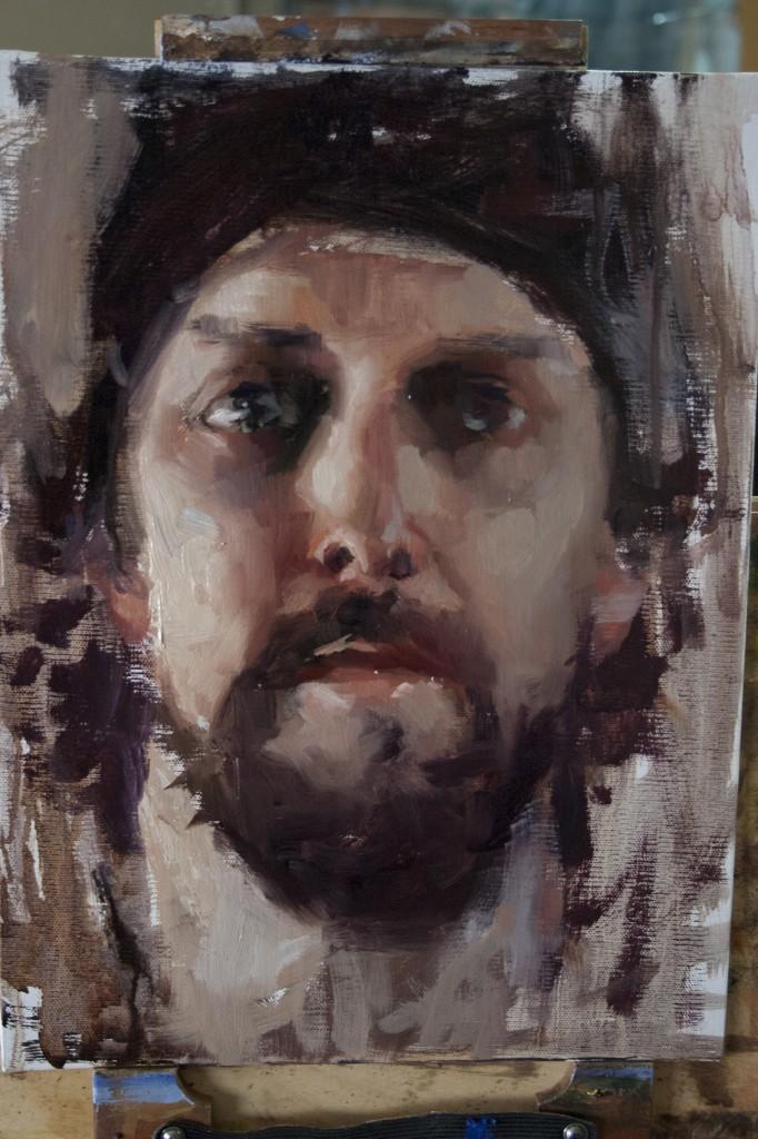 self portrait of artist matt abraxas