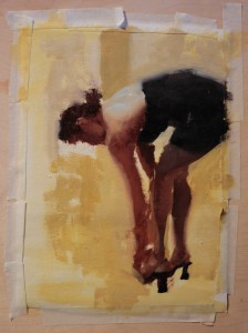 Matt Abraxas Rebecca Abraxas SmithKlein Gallery Painting of Woman