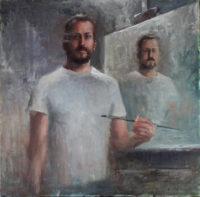 Matt Abraxas Self Portrait at 40 Years 2014 Oil Painting