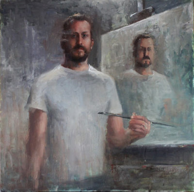 Matt Abraxas Self Portrait at 40 Years 2014 Oil Painting