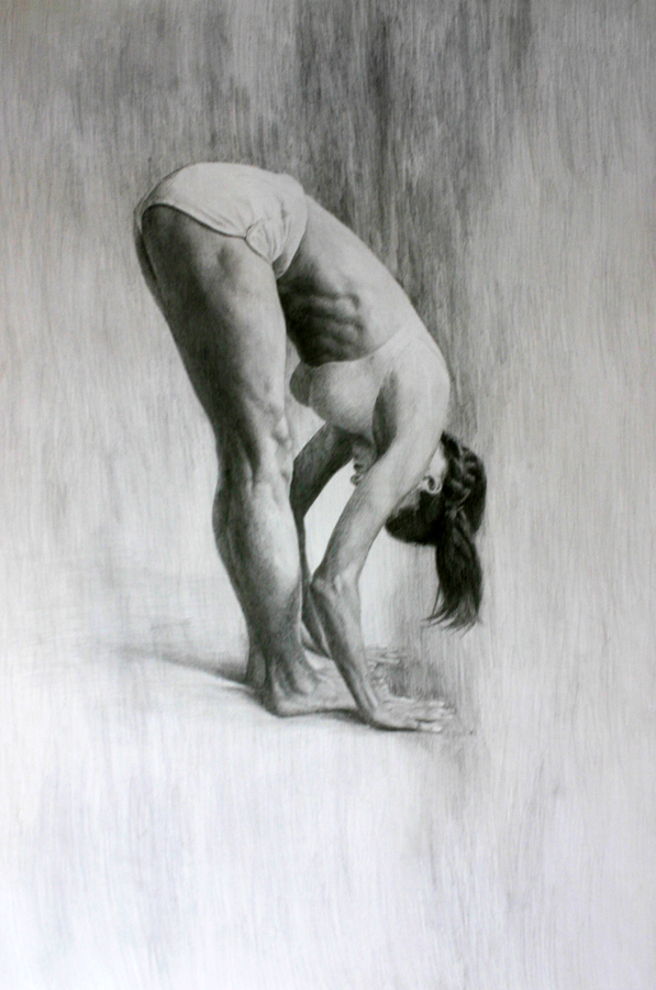 yoga pose art figure drawing utanasana matt abraxas