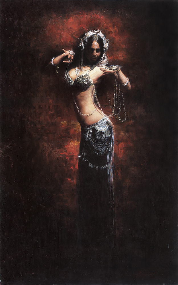 belly dance painting beautiful woman deb rubin matt abraxas